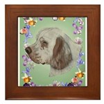 Clumber Spaniel Framed Tile