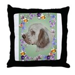 Clumber Spaniel Throw Pillow