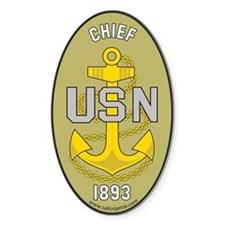 Chief Petty Officer 1893 Oval Decal