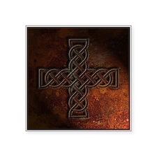 Celtic Knotwork Rust Cross Sticker