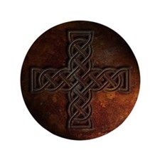 "Celtic Knotwork Rust Cross 3.5"" Button (100 pack)"