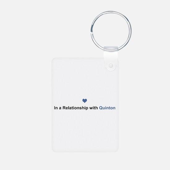 Quinton Relationship Aluminum Keychain