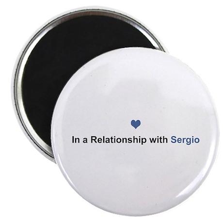Sergio Relationship Round Magnet