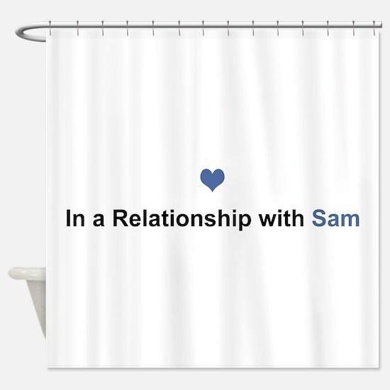 Sam Relationship Shower Curtain