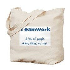 Teamwork - Blue Tote Bag