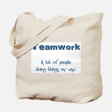 Teamwork - Blue Tote Bag