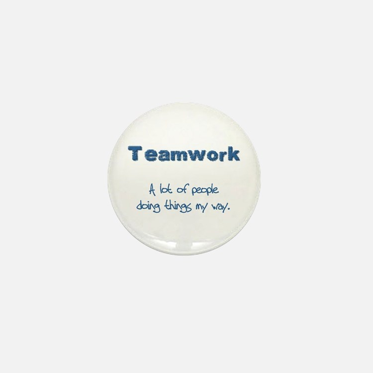 Teamwork - Blue Mini Button