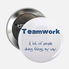 """Teamwork - Blue 2.25"""" Button (10 pack)"""