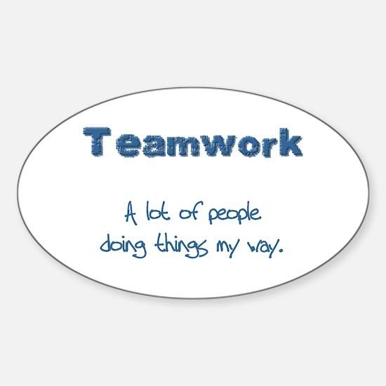 Teamwork - Blue Oval Decal