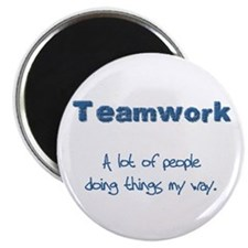 "Teamwork - Blue 2.25"" Magnet (10 pack)"