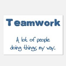 Teamwork - Blue Postcards (Package of 8)