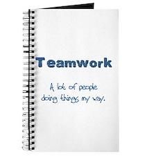Teamwork - Blue Journal