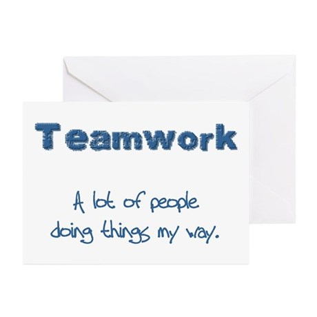 Teamwork - Blue Greeting Cards (Pk of 10)