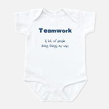 Teamwork - Blue Infant Creeper