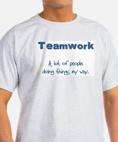 Teamwork - Blue Ash Grey T-Shirt
