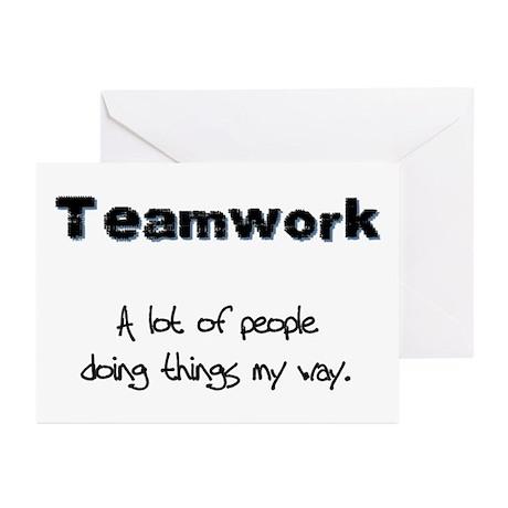 Teamwork - Black Greeting Cards (Pk of 10)
