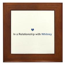 Whitney Relationship Framed Tile