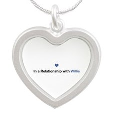 Willie Relationship Silver Heart Necklace