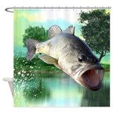 Bass fish Shower Curtains