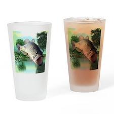 Green Bass Drinking Glass