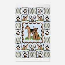 Airedale Terrier 3'x5' Area Rug