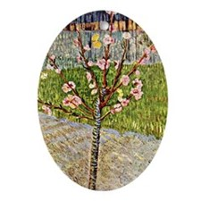 Van Gogh's Almond Tree in Blossom Oval Ornament