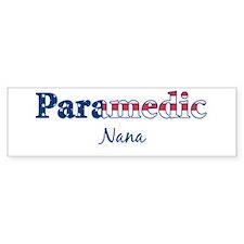 Paramedic Nana Bumper Bumper Sticker