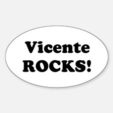 Vicente Rocks! Oval Decal