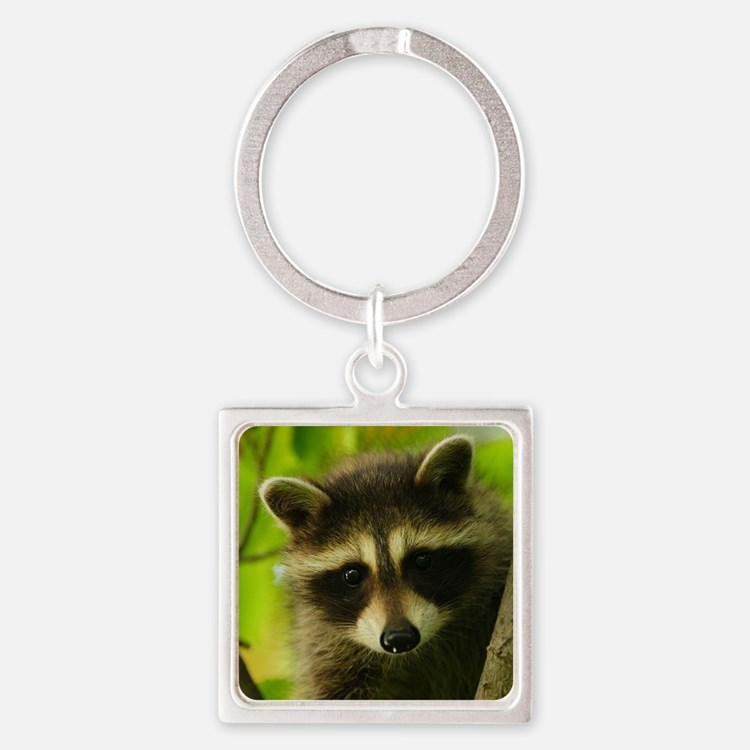 raccoon Square Keychain