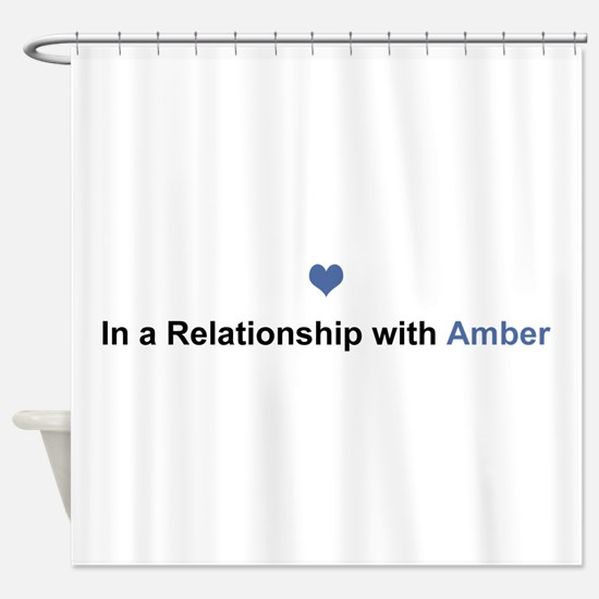 Amber Relationship Shower Curtain