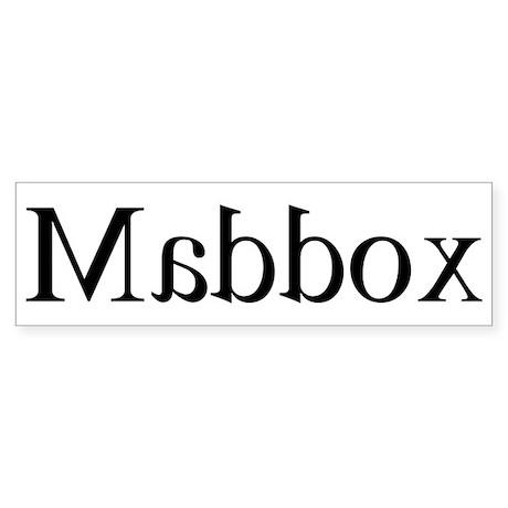 Maddox: Mirror Bumper Sticker
