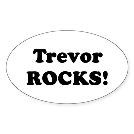 Trevor Rocks! Oval Sticker