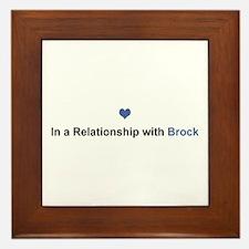 Brock Relationship Framed Tile