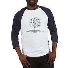 Guitars Tree Roots Baseball Jersey Tee