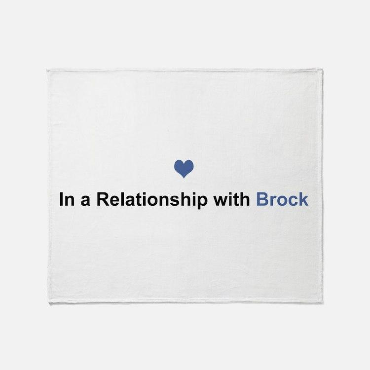 Brock Relationship Throw Blanket