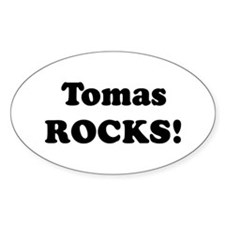 Tomas Rocks! Oval Decal