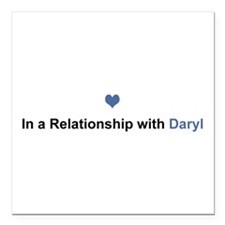 Daryl Relationship Square Car Magnet