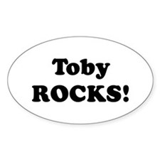 Toby Rocks! Oval Decal
