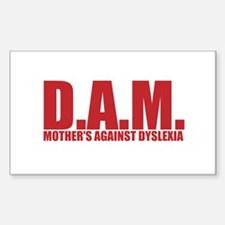 MOTHERS AGAINST DYSLEXIA Decal