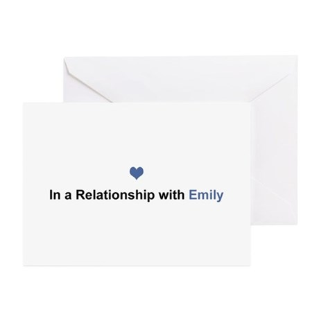 Emily Relationship Greeting Card 10 Pack