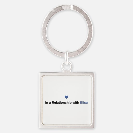 Elisa Relationship Square Keychain