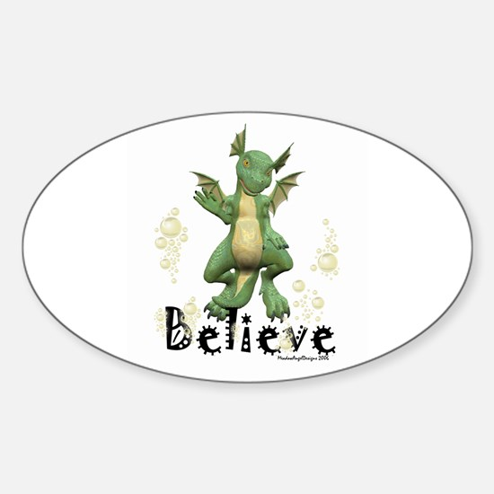 Young Dragon Oval Decal