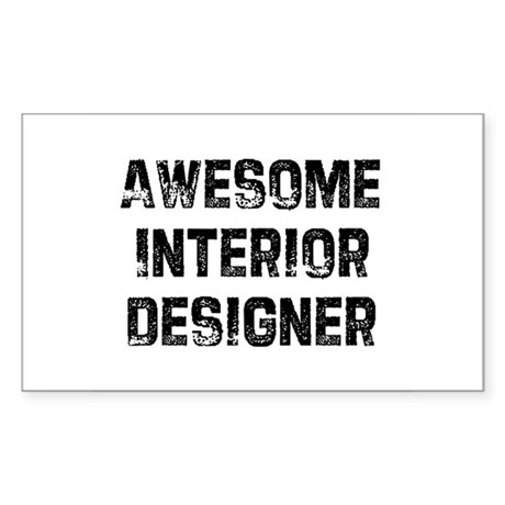 Awesome Interior Designer Rectangle Sticker