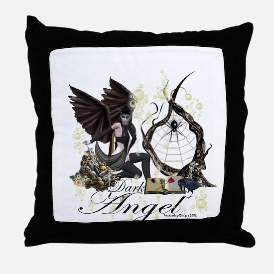 Dark Angel Throw Pillow