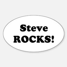 Steve Rocks! Oval Decal