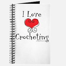 I Love (heart) Crocheting Journal