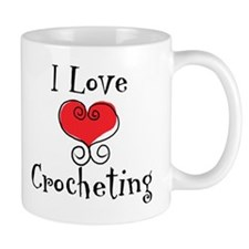 I Love (heart) Crocheting Mug