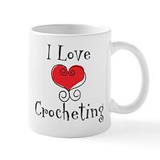 I Love (heart) Crocheting Small Mug