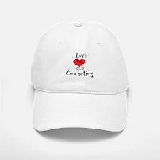 I Love (heart) Crocheting Baseball Baseball Cap