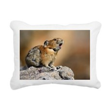 Pika Howling Rectangular Canvas Pillow